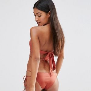 Nasty Gak HOT AS HELL Copper swimsuit Top